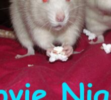 rats movie night Sticker