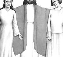 Jesus, with Mary and Martha by HandsonHart