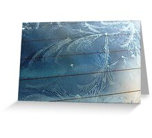 Windscreen Ice Art Greeting Card