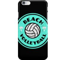 Beach Volleyball Neon Distressed iPhone Case/Skin
