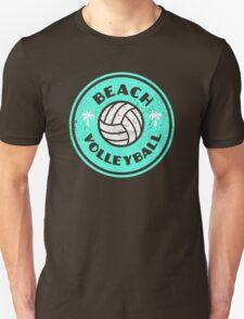 Beach Volleyball Neon Distressed Unisex T-Shirt