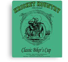 KRICKET KOUNTRY Classic Biker's Cup Canvas Print