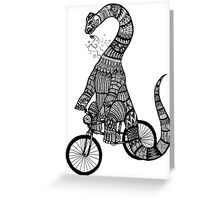 Brontosaurus Love Pipe  Greeting Card