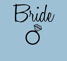 Bride with diamond ring Womens Fitted T-Shirt