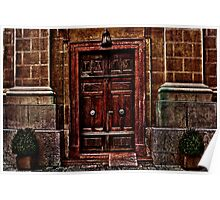 European Old Wooden Door Poster
