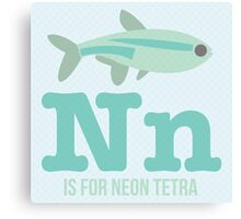 N is for Neon Tetra Canvas Print