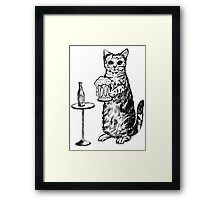 Real Cat Love Beer Framed Print
