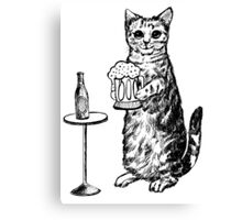 Real Cat Love Beer Canvas Print