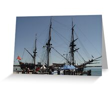 HMB Endeavour Port Macquarie IV Greeting Card