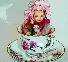 Tea Cup Doll  by atomicpixal
