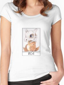 Cubone, lonely pokemon Women's Fitted Scoop T-Shirt