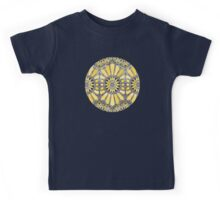 Sunny Yellow Radiant Watercolor Pattern Kids Tee
