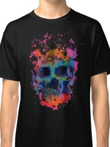 Splatter and Bone on Black Classic T-Shirt