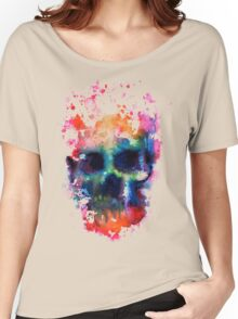 Splatter and Bone on Black Women's Relaxed Fit T-Shirt