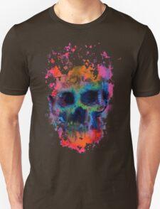 Splatter and Bone on Black T-Shirt