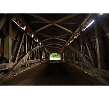 Old Mill Covered Bridge Photographic Print