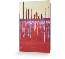 Cattails original painting Greeting Card