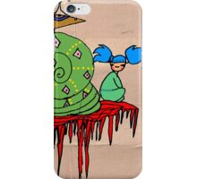Pi Sung & Kei. Her giant green shell snail iPhone Case/Skin