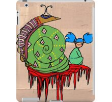 Pi Sung & Kei. Her giant green shell snail iPad Case/Skin