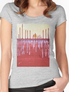 Cattails original painting Women's Fitted Scoop T-Shirt