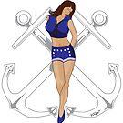 Retro Sailor Pinup by Joe Simpson