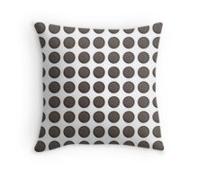 Chocolate Sandwich Cookie Throw Pillow