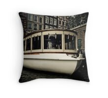 Amsterdam Boat Throw Pillow