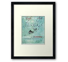 No Mistakes Framed Print