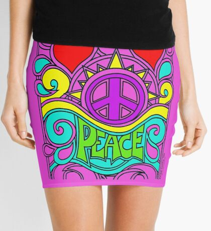 Peace to all Humanity... Mini Skirt