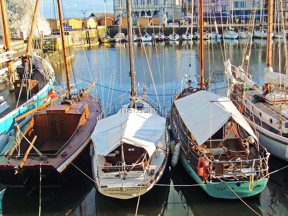 The Boats of Honfleur by Natasha M