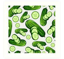 Veggiephile - Cucumbers Art Print