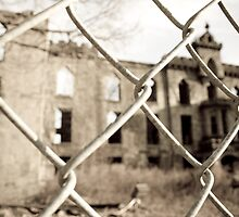 Abandoned Building through Fence by AriseShine