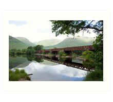 Iron Rail Bridge Art Print