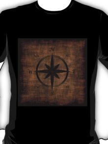 Nostalgic Old Compass Rose Design T-Shirt