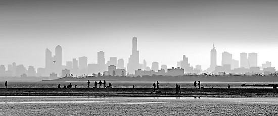Melbourne Skyline #1 by Mark Boyle