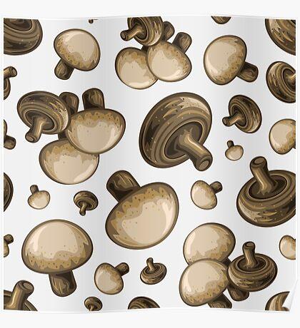 Veggiephile - Mushrooms Poster
