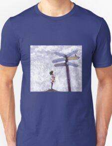 Which Way? dark hair T-Shirt