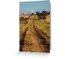 Farm Lane,Bellarine Peninsula Greeting Card