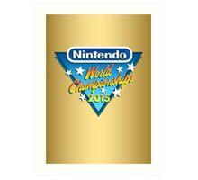 Nintendo World Championships 2015 Logo Art Print