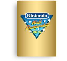 Nintendo World Championships 2015 Logo Canvas Print