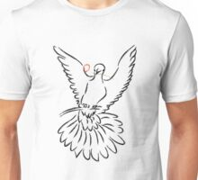 Dove Line Art Unisex T-Shirt