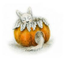The Creature in the Pumpkin by louprentice