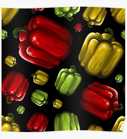 Veggiephile - Capsicum Poster