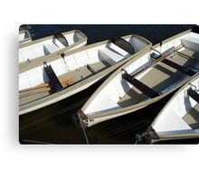 A Row of Boats Canvas Print