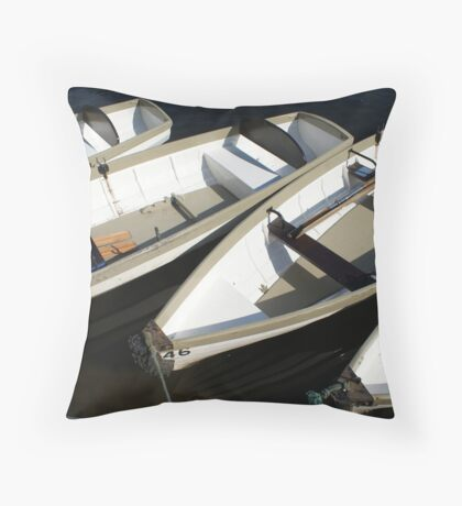 A Row of Boats Throw Pillow