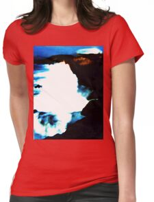 Rough Sea Womens Fitted T-Shirt