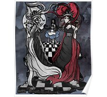 Alice and her Queens: The Checkered Board Poster