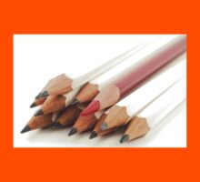 White and Red Pencils Kids Clothes