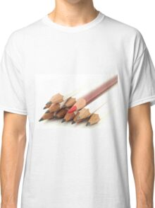 White and Red Pencils Classic T-Shirt