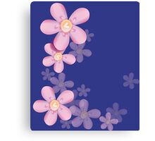 Cute pink flowers Canvas Print